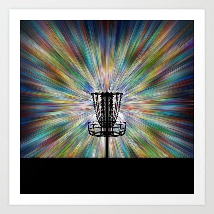 Disc Golf Basket Silhouette Kunstdrucke
