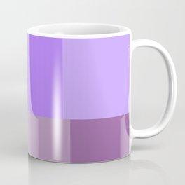 Purple grid Coffee Mug