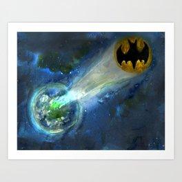 A Call for Super Hero Help Art Print
