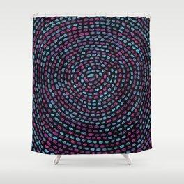 Circular Mosaic Shower Curtain