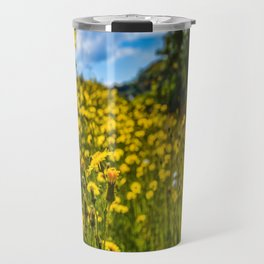Mylor Walk - Yellow Hawkweed Flowers  Travel Mug