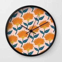 Floral_pattern Wall Clock
