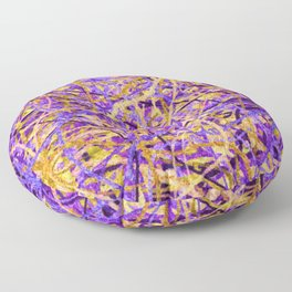 Purple and Gold Celebration Floor Pillow