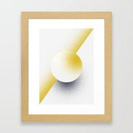 Shape Studies: Circle V Framed Art Print