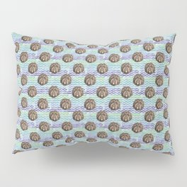 Fluffy Doggy over Beach Waves - Pattern Pillow Sham