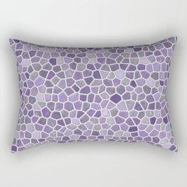 Faux Stone Mosaic in Lavender Rectangular Pillow