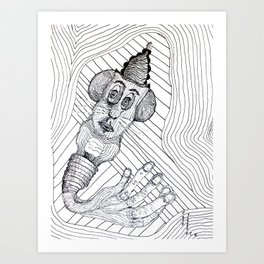 Mouse Fingers Art Print