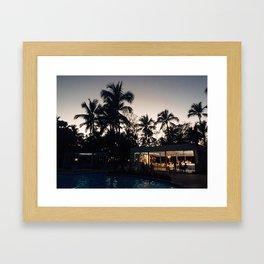 Grand Paradise Pool At Night Framed Art Print