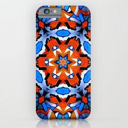 Hexagon Orange Blue Mosaic Star iPhone Case