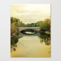 Bridge & Yellow Sky Canvas Print