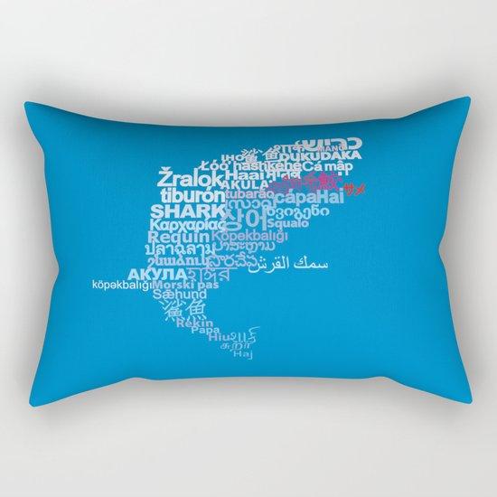 Shark in Different Languages Rectangular Pillow