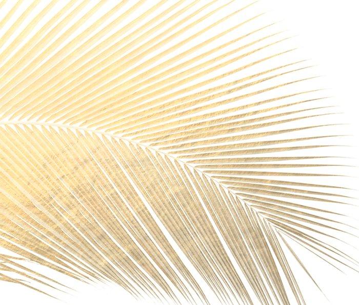 Palm leaf - gold Metal Travel Mug