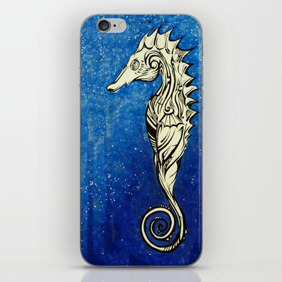 Tribal Seahorse iPhone & iPod Skin