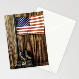 In Gratitude To Our Country and Military People Stationery Cards
