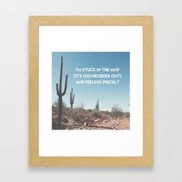 Prickly Framed Art Print