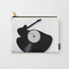 Rock Music Silhouette Record Carry-All Pouch