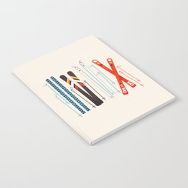 Retro Ski Illustration Notebook