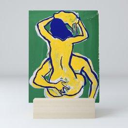 Couple in Green Mini Art Print