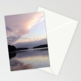 Uplifting III: Geese Rise at Dawn on Lake George Stationery Cards