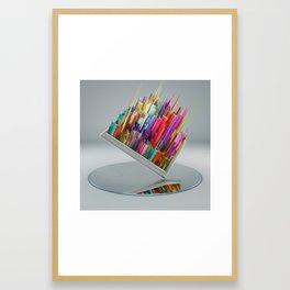 El espejo Framed Art Print