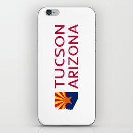 Arizona: Tucson (State Shape & Flag) iPhone Skin