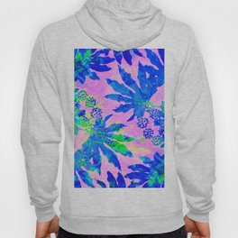 Tropical Adventure - Neon Blue, Pink and Green #tropical #homedecor Hoody