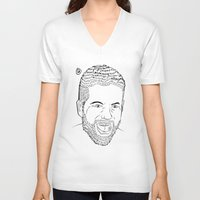 woody V-neck T-shirts featuring Woody by deletethisstore
