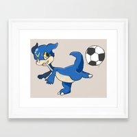 digimon Framed Art Prints featuring Digimon - V-mon by Hacha