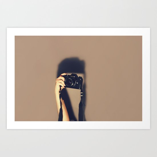 Taking pictures of you Art Print