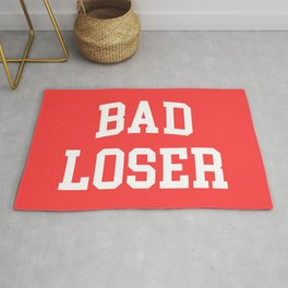 Bad Loser Offensive Quote Rug