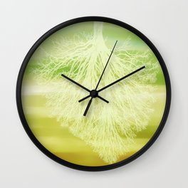 inhaling spring Wall Clock