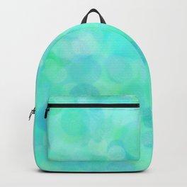 Aqua Lime Beach Glass Dots Backpack