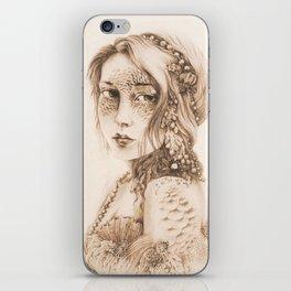 Mermaid Mask, Sepia v2 iPhone Skin
