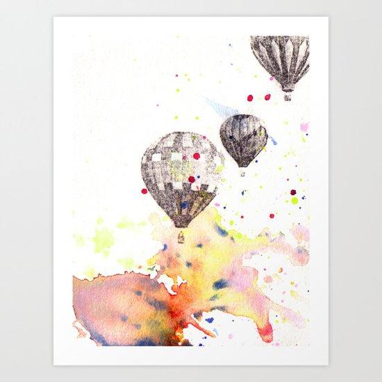 Hot Air Balloons Painting Art Print