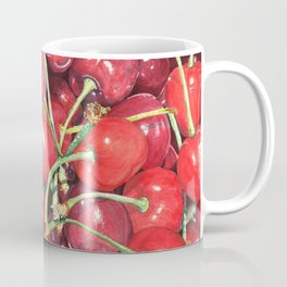 Juicy Watercolor Cherries Coffee Mug
