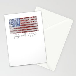 American Flag 1776 Declaration T-Shirt USA Pride America Tee Stationery Cards