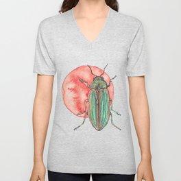 Iridescent Beetle Unisex V-Neck