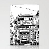 kobe Stationery Cards featuring Yokohama - China town by parisian samurai studio