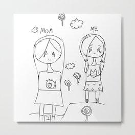 Mom and Me Metal Print