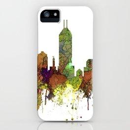Indianapolis, Indiana Skyline SG - Safari Buff iPhone Case