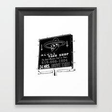 TACO SMELL Framed Art Print