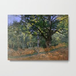 Claude Monet - The Bodmer Oak, Fontainebleau Forest Metal Print