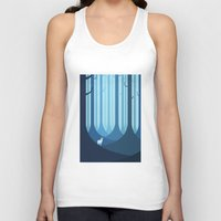 forest Tank Tops featuring Blue forest by Roland Banrevi