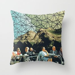 When we are older, vintage collage Throw Pillow