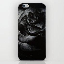 B&W Rose Drawing iPhone Skin