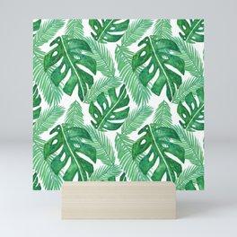 Tropical Leaf Pattern Mini Art Print