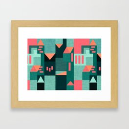 Teal Klee houses Framed Art Print