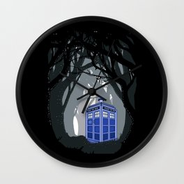 Tardis doctor who lost in the woods apple iPhone 4 4s 5 5s 5c, ipod, ipad, pillow case and tshirt  Wall Clock