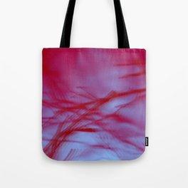 Pink Tree Blur Tote Bag