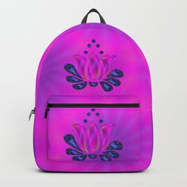 Born of Lotus Abstract Art Backpack
